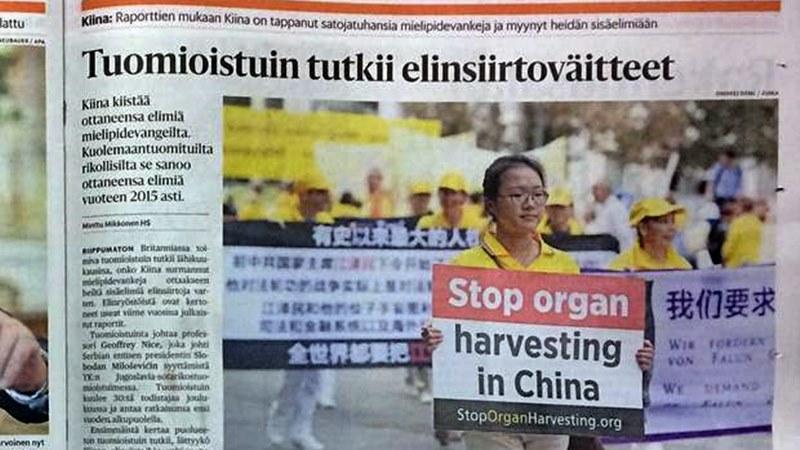 Хелзинки Финландия отнемане на органи Китай