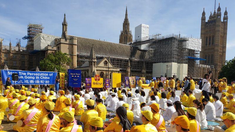 митинг пресконференция Фалун Дафа Великобритания