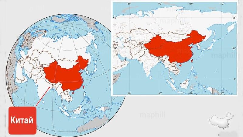 карта на Китай