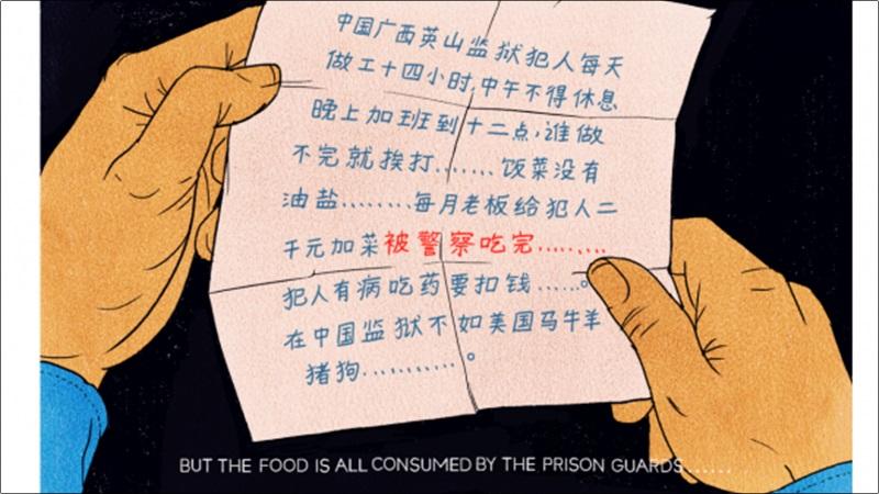 писмо от затвор трудов лагер Китай