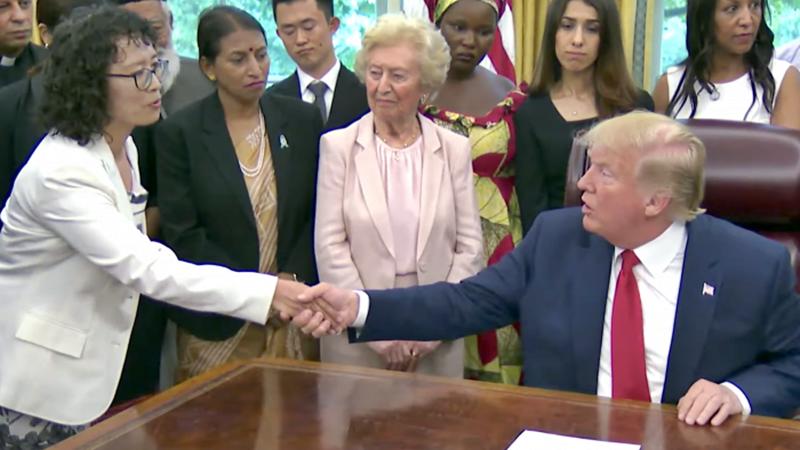 среща Фалун Гонг Доналд Тръмп САЩ
